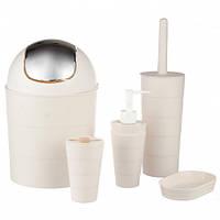 Набор аксессуаров для ванной комнаты A-PLUS 6 предметов (214 BS)