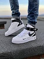 "Мужские зимние кроссовки Nike Air Force 1 Mid '07 LV8 ""White/Black"""