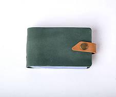 Кожаная визитница Viza унисекс зеленая, фото 3
