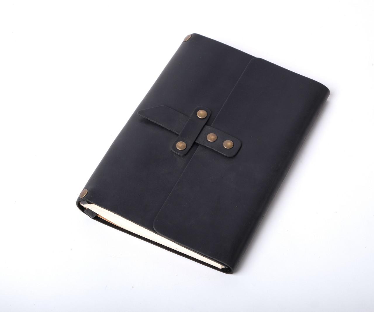 Кожаный блокнот со сменным блоком ручной работы А5 ¨Nota5¨
