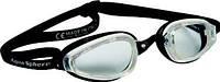 Стартовые очки для плавания Michael Phelps K180; серо-черные, прозрачные линзы