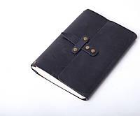 Кожаный блокнот А5 «Nota5 Blue» унисекс Синий (21x15 см) ручной работы