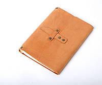 Кожаный блокнот А5 «Nota5 Foxy» унисекс Песочный (21x15 см) ручной работы