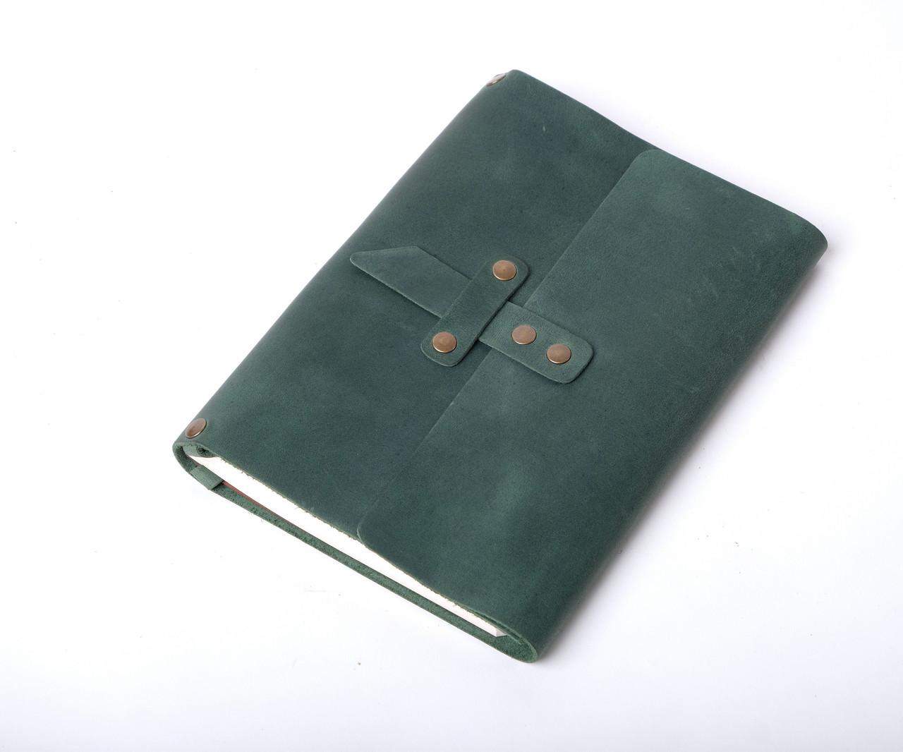 Кожаный блокнот с гравировкой (опционально) со менным блоком А5 ¨Nota5¨