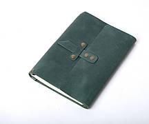 Шкіряний блокнот Nota5 Зелений