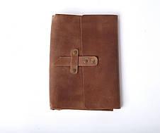 Шкіряний блокнот А5 «Nota5 Olive» жіночий Оливковий (21x15 см) ручної роботи, фото 3