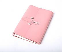 Шкіряний блокнот Nota5 Рожевий