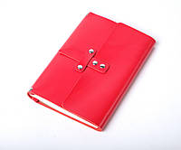 Кожаный блокнот А5 «Nota5 Red» женский Красный (21x15 см) ручной работы от pan Krepko