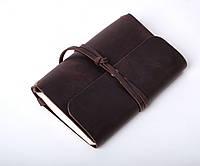 Кожаный блокнот А6 «Nota6 Brown» унисекс Коричневый (15x11 см) ручной работы