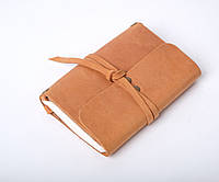 Кожаный блокнот А6 «Nota6 Foxy» унисекс Песочный (15x11 см) ручной работы от pan Krepko