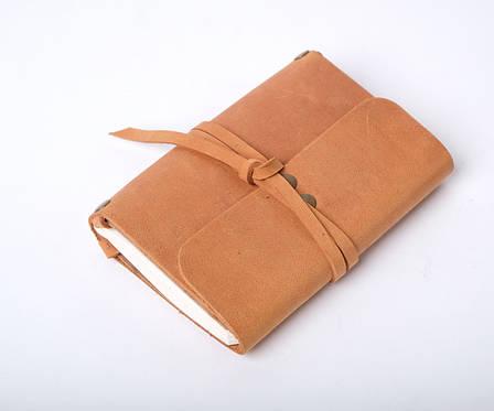 Кожаный блокнот Nota6 Песочный, фото 2