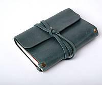Кожаный блокнот А6 «Nota6 Green» унисекс Зеленый (15x11 см) ручной работы от pan Krepko