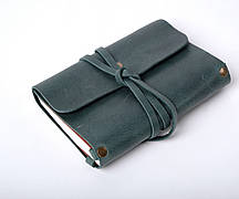 Кожаный блокнот Nota6 Зеленый