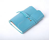 Кожаный блокнот А6 «Nota6 Azure» женский Голубой (15x11 см) ручной работы от pan Krepko