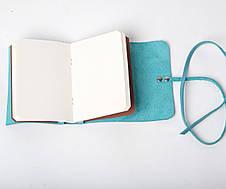 Кожаный блокнот Nota6 Голубой, фото 2