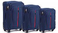 Комплект  чемоданов Wings 1706 на 4 колесах 3 в 1 (L, M, S), фото 1