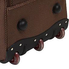 Сумка дорожная на колёсах FILIPPINІ  формованная коричневая 67х37х40 ксТ0047корб, фото 3