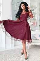 Платье женское нарядное вечернее красивое в разный горошек, фото 1