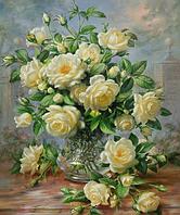 Алмазна вишивка DM-055 Букет білих роз (Алмазная мозаика)
