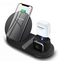 Док станция для iphone и apple watch и airpods wireless fast charger 3 в 1 5750