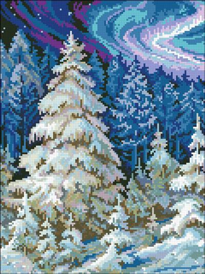 АМС-129. Набір алмазної мозаїки Казкова зима
