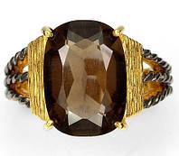 Дымчатый кварц (раухтопаз).Роскошное кольцо, handmade