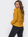 S-L Уютный свитер  с геометрическим узором, фото 5