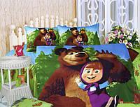 Детское постельное белье La Scala KI-062 'Маша и Медведь' полуторный (175072)