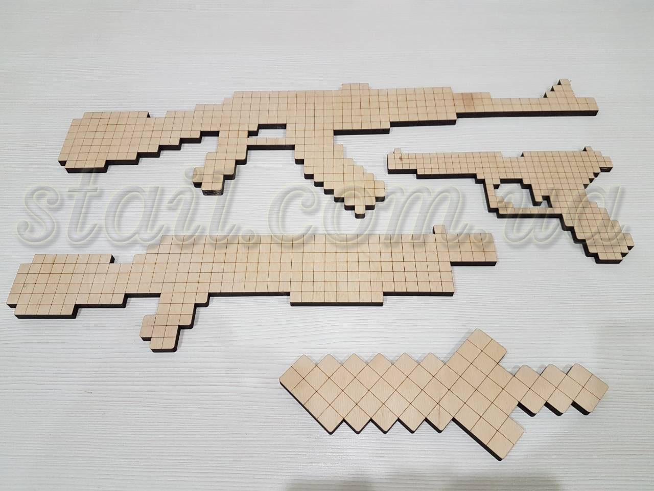 Набір розмальовка - зброя Minecraft (набор раскраска - оружие Майнкрафт)