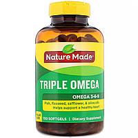 Омега 3-6-9 Nature Made, тройная омега, 150 мягких капсул