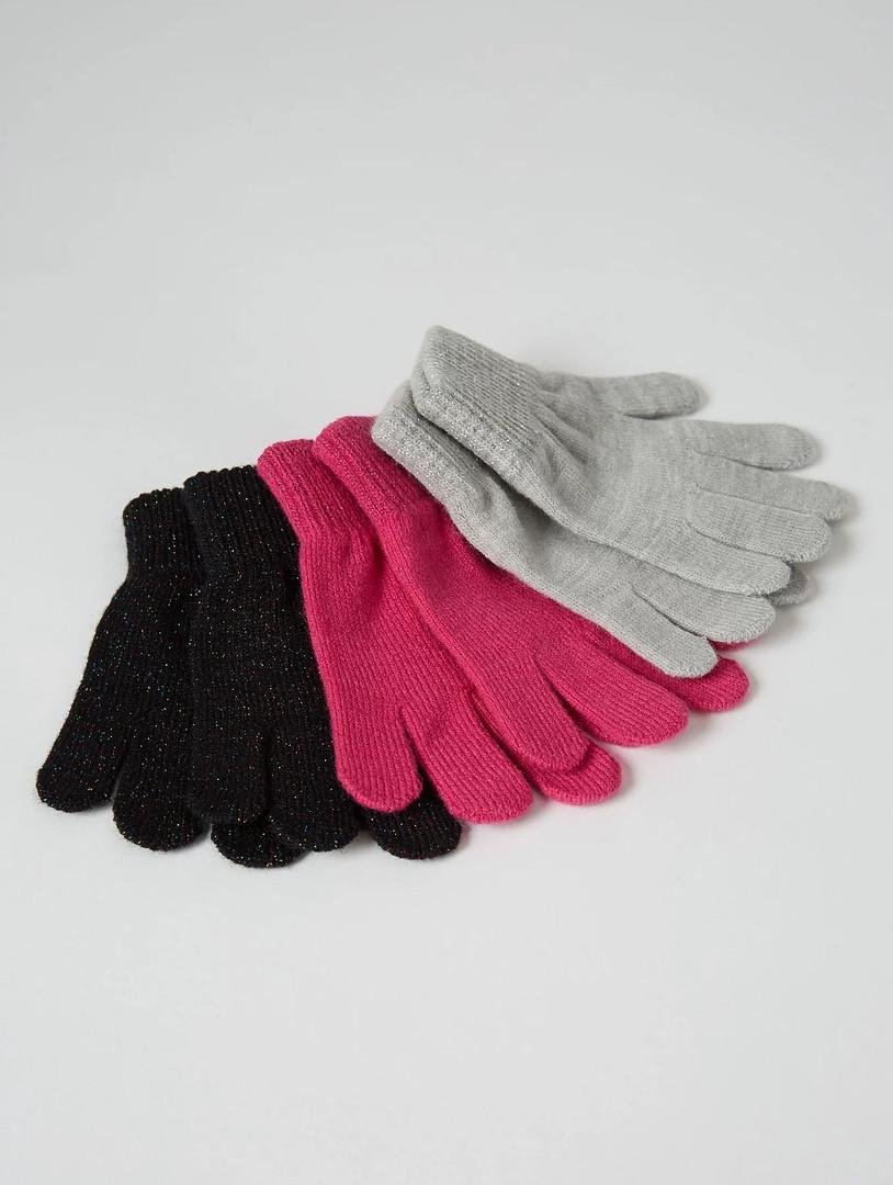 Вязанные детские перчатки Джордж для девочки (поштучно)