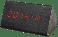 Настольные часы 'Wooden Clock' темный треугольный (199386)