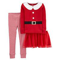 Новогодняя пижама Carter's 3в1 для девочек (CША)