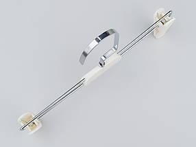 Плечики вешалки тремпеля  для брюк и юбок кремового цвета, длина 25,5 см, фото 3