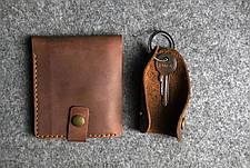 Кожаная ключница Keysi мужская коричневая, фото 3