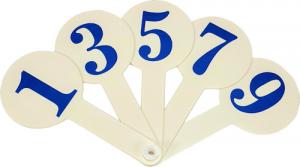 Веер цифр 1-10