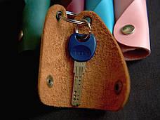 Кожаная ключница Keysi мужская коричневая, фото 2