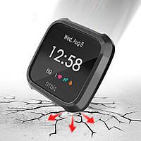 Защита для Fitbit Versa Lite силиконовый чехол черный