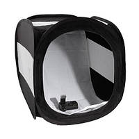 Лайт куб Mircopro LT-016 80х80х80 см черный с белым фоном (LT-016_808080)