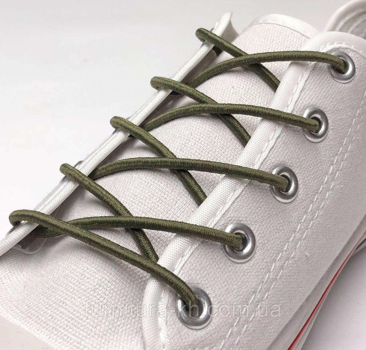 Шнурок Резиновый Круглый-Цвет Светлый--Хаки(толщина 3 мм).Длинна 1 метр