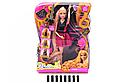 Лялька типу Барбі 66779 Перукар, плойка, бігуді, гребінець, фото 2