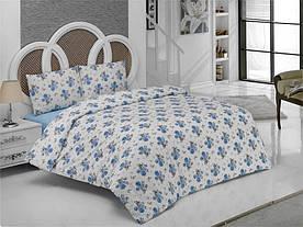 Постельное белье Weekend Ranforce Romantik mavi двухспального размера