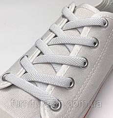 Шнурок Резиновый Плоский-Цвет Белый(толщина 7мм).Длинна 0,70 см