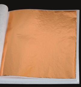 Поталь цветная в листах (фольга для декорирования), Медь, 8*8,5 см, 50 листов