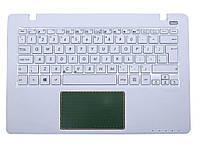 Клавиатура для ноутбука Asus F200, R202, X200 X200MA (RU White с крышкой). Оригинальная новая.