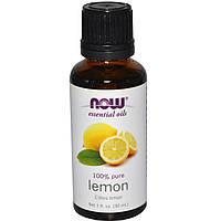 Масло лимона эфирное, 30 мл, Now Foods