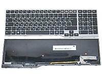 Клавиатура для Fujitsu Lifebook E753, E754, E756, E554, E556, CP629312-03 ( RU Black, Gray Frame с