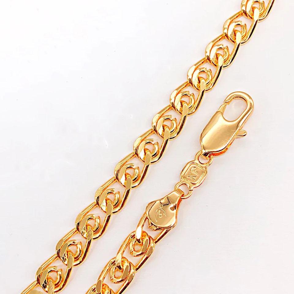 Браслет Xuping Jewelry 20,5 см х 6,5 мм Лав медицинское золото, позолота 18К А/В 4729