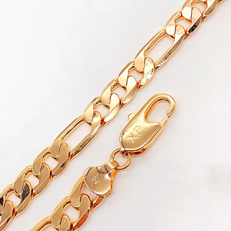 Браслет Xuping Jewelry 19,5 см х 8 мм Фигаро медицинское золото позолота 18К А/В 4-0048