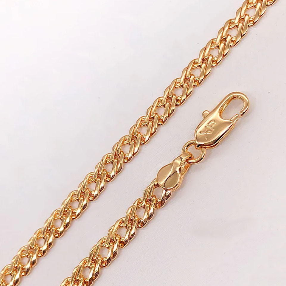 Браслет Xuping Jewelry 18,5 см х 5 мм Ромб медицинское золото, позолота 18К А/В 4737